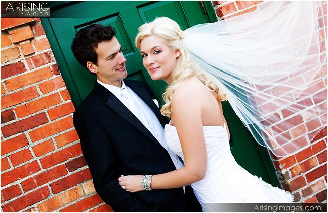 wedding ceremony at addison oaks county park in leonard, mi