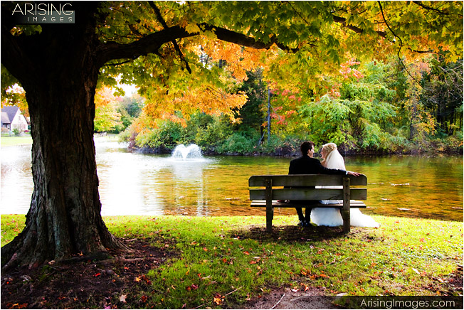 wedding photography with michigan fall color