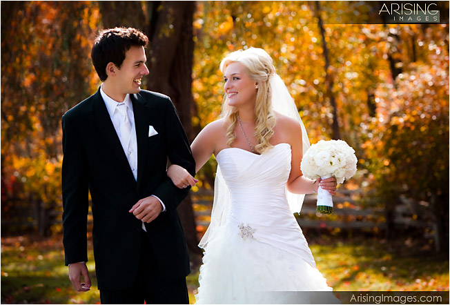 fall color wedding at addison oaks county park