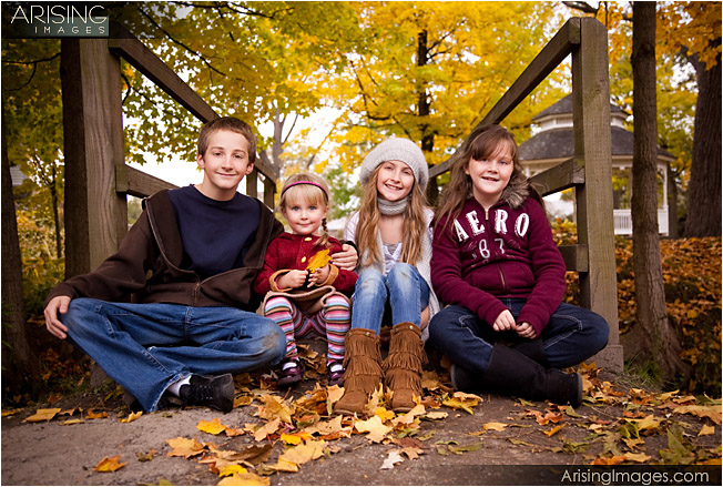 photos of kids with fall colors in rochester, michigan