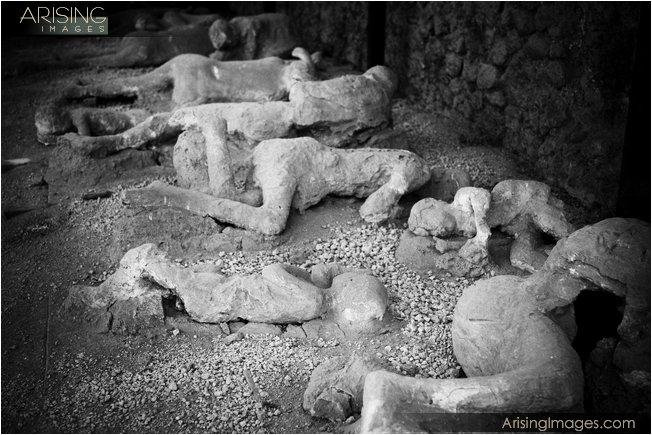 Pompeii, Italy body casts