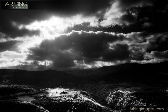 Moody sky shot with infrared camera