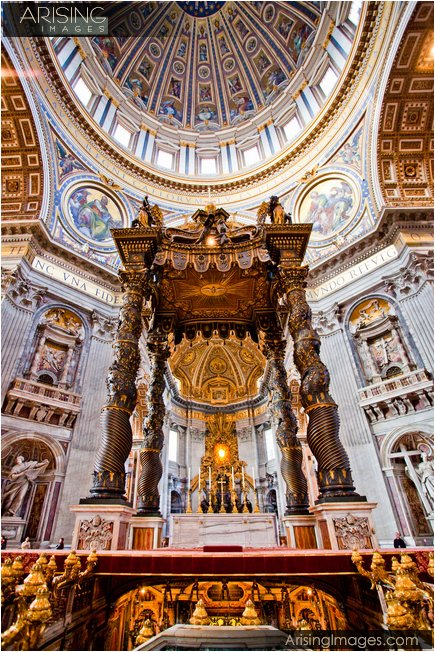 Vatican City and St. Peters Basilica in Rome, Italy