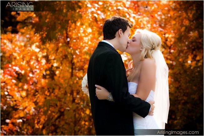 fall color wedding photos at addison oaks