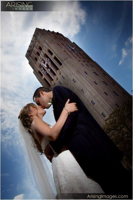 wedding photo near the michigan league