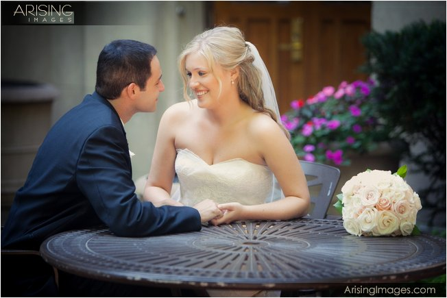 wedding photos on the michigan campus near the league