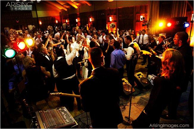 band at a michigan league wedding