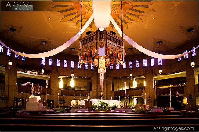Wedding Ceremony At The National Shrine Of Holy Flower In Royal Oak