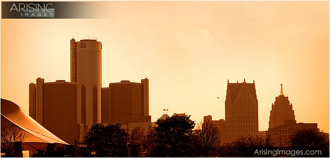 view of downtown detroit, a great place for a wedding