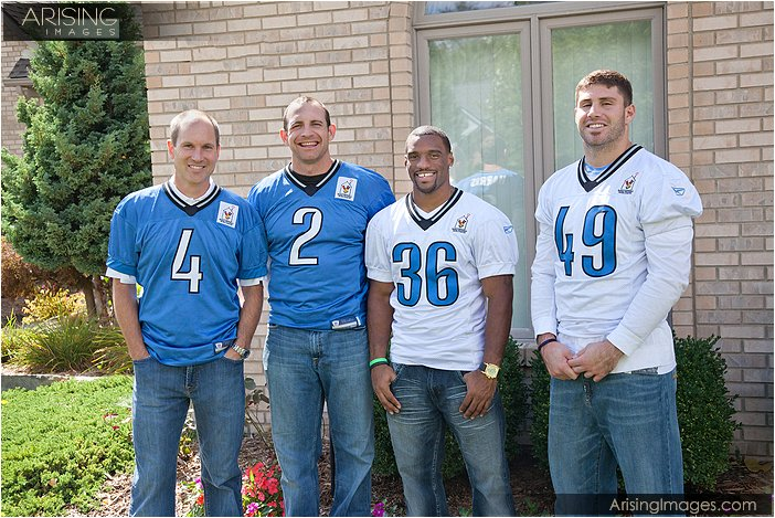 detroit lions players coming out to cheer up a sick child