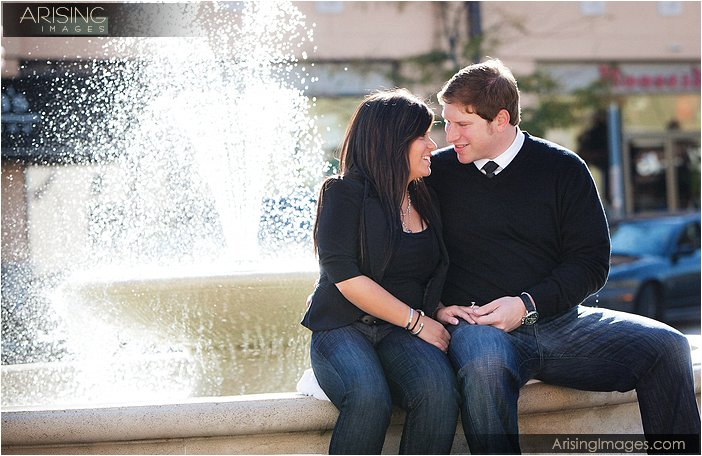 cool outdoor engagement photography mi