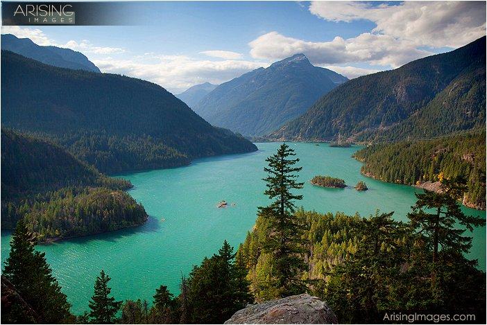 diablo lake overlook in north cascades national park