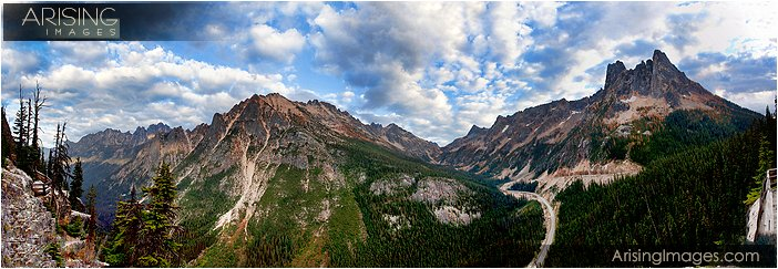 panoramic view at washington pass near the north cascades national park