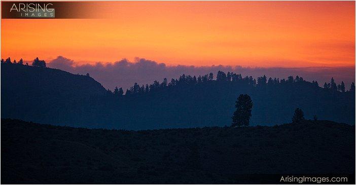 sunrise on highway 153 near Twisp, WA