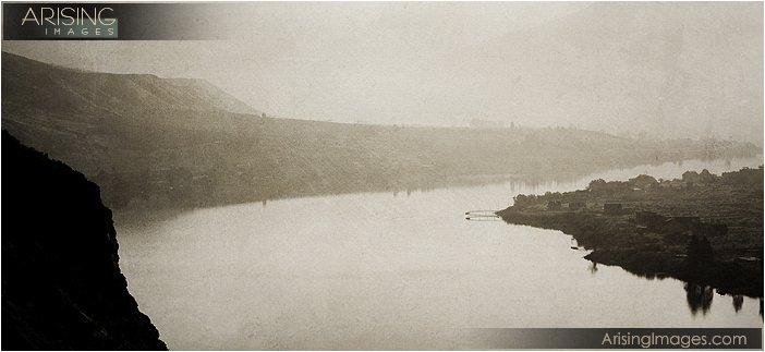 eerie scene by the river near Chelan