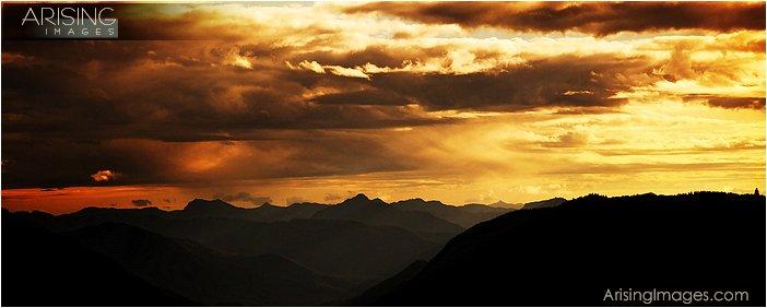 view of the mountains near Mt. Rainier