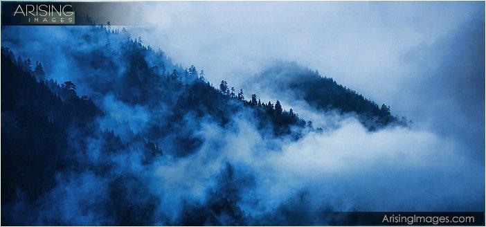 rain clouds on the olympic peninsula in Washington
