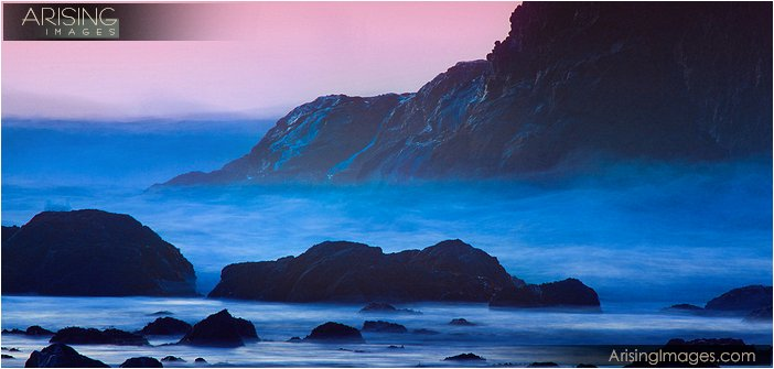 long exposure of crashing waves at second beach in olympic national park in washington