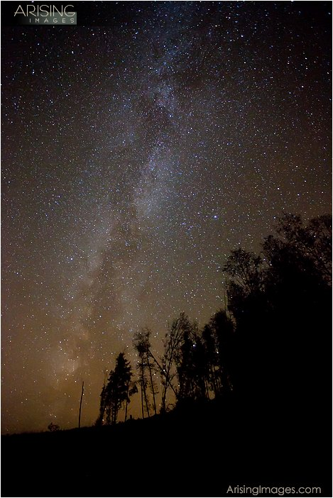 star photography on the Olympic peninsula in northwestern Washington