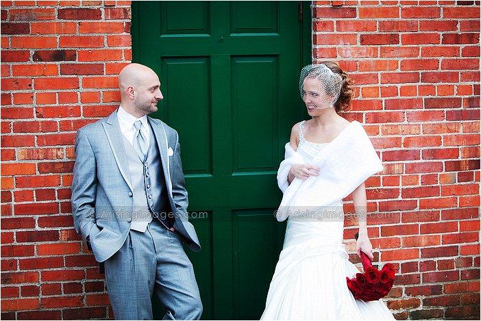 outdoor wedding photos in michigan in november