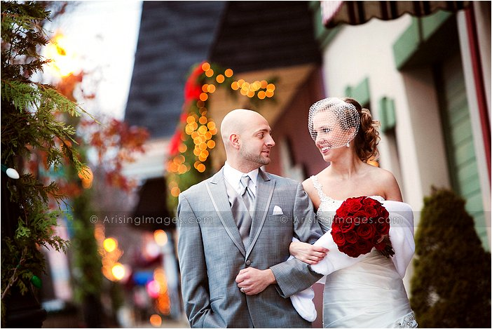 downtown lake orion, mi wedding photos