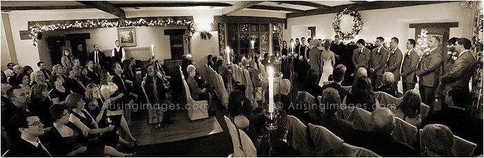 wedding ceremony at addison oaks in leonard, mi