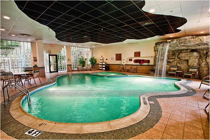 indoor swimming pool at embassy suites in livonia, mi