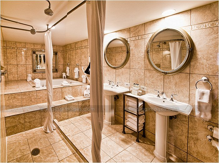 presidential suite bathroom at embassy suites in livonia, mi