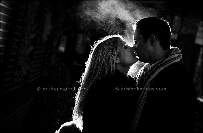 winter engagement photos in michigan