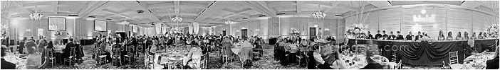 photographer for panoramic wedding reception setup in michigan