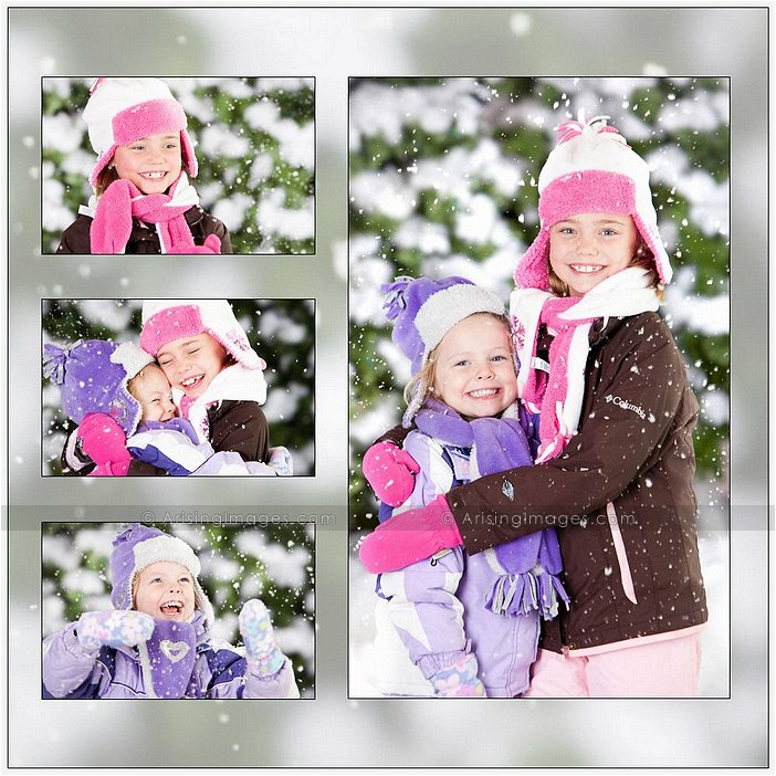winter photos of kids in michigan
