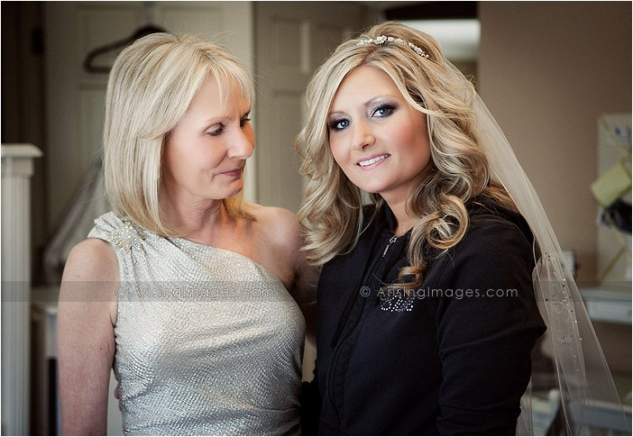 emotional photo of bride and her mom