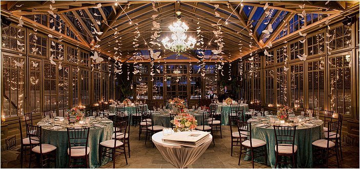 intimate wedding reception in the conservatory at the royal park hotel in rochester, mi