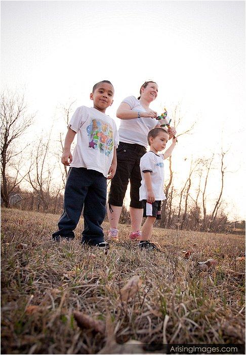 boys at the farmhouse