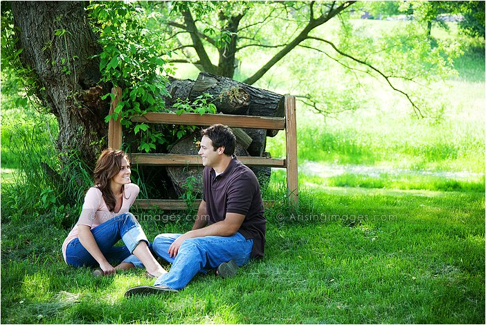 engagement photos on a farm in michigan