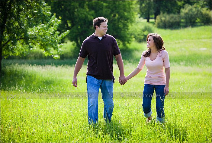 lake orion farmhouse engagement pictures
