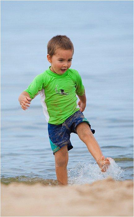 fun on the beach at grand haven, mi