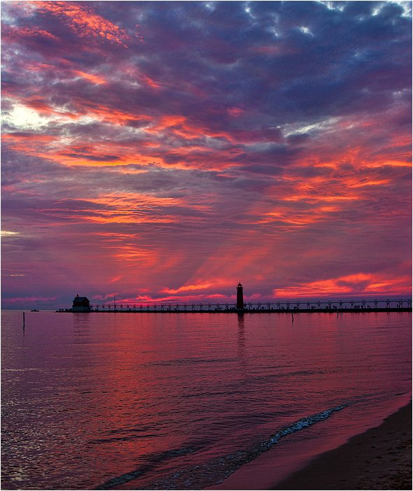 grand haven, michigan sunset