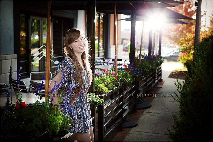 creative senior pictures at the village in rochester hills, michigan