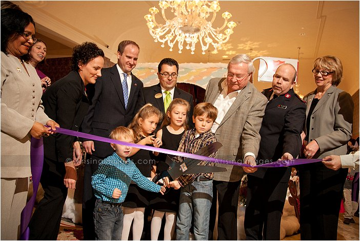 royal park hotel gingerbread house ribbon cutting