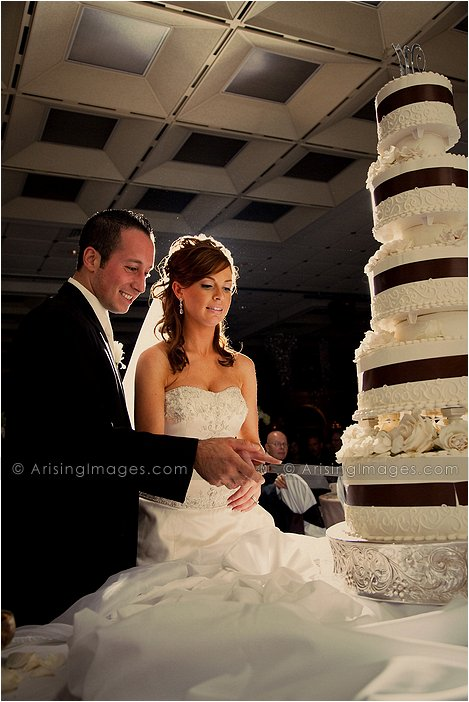 edgy wedding photography at italian american club, Mi