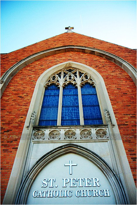 stunning wedding pictures at st. peters church michigan