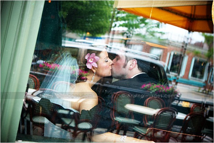 awesome michigan wedding photographers in downtown milford, mi