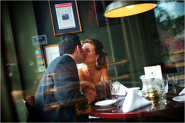 sweet wedding photography in downtown milford, MI