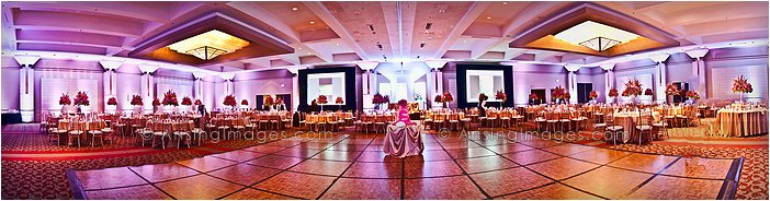 indoor michigan wedding reception at the dearborn hyatt