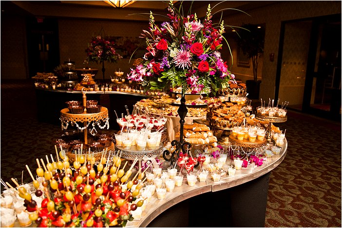 Wedding Cake Buffet Table