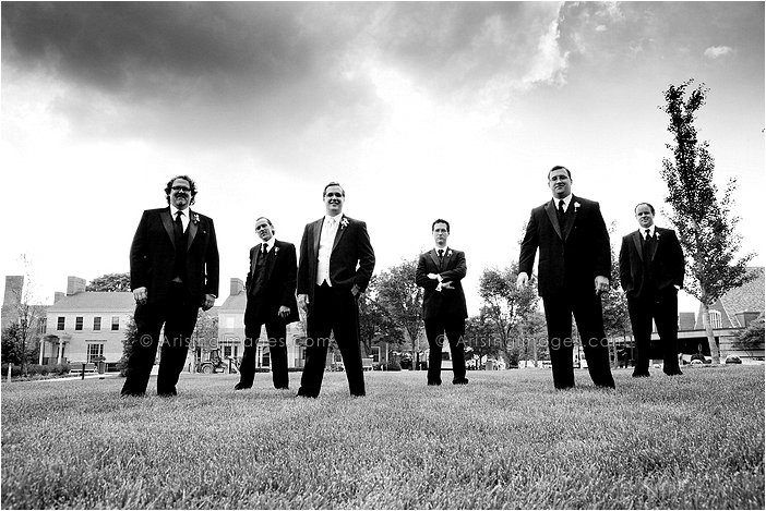 edgy wedding party photography in downtown birmingham, MI