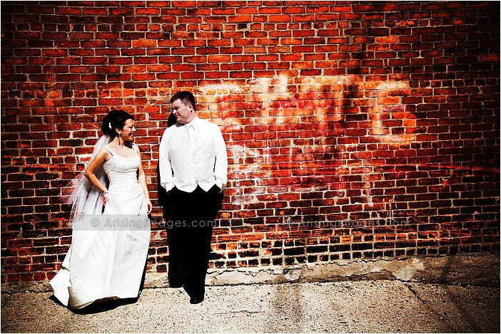 downtown birmingham, Mi artistic wedding photography