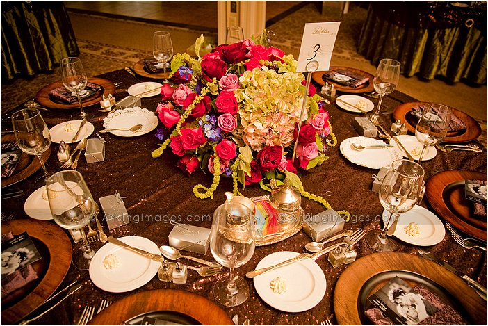 indoor wedding reception photography at knollwood country club