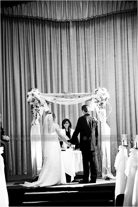 awesome indoor michigan wedding ceremony photography at michigan league